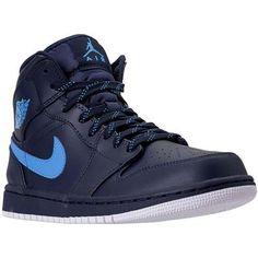 fbaed4c78703 Air Jordan 1 Mid Basketball Shoes - Mens Black White Black Jordan 1 Mid