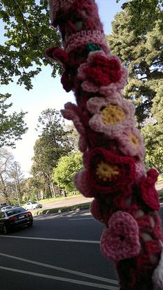 Yarn Bombing Cancer Council Melbourne Krista Crochet Group