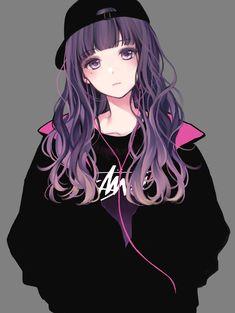 to all anime lovers Cool Anime Girl, Pretty Anime Girl, Beautiful Anime Girl, Kawaii Anime Girl, Anime Art Girl, Anime Love, Anime Girls, Cute Manga Girl, Cute Anime Pics