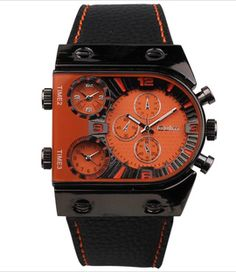 $49 Contemporary Men's Watch by Calla  Contemporary Men's Watch in Red/Orange color.  http://www.trendcy.com/