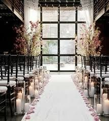 Romantic lighting and warm colours give this aisle a fabulous feel