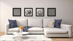 Islamic Wall Art Set Modern by Sukar Decor by SukarDecor on Etsy Decor Interior Design, Interior Decorating, Islamic Wall Art, Wall Art Sets, Apartment Interior, Frames On Wall, Living Room Decor, Modern, Master Bedrooms