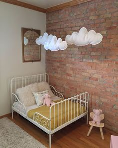 Felt clouds = cute in a children's room, nursery, or for party!