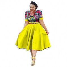 African Clothing Summer Dress For Women Dashiki Bazin Riche Vestidos African Dresses For Women, African Print Dresses, African Attire, African Fashion Dresses, African Wear, Fashion Outfits, African Outfits, African Dresses Plus Size, Fashion Ideas