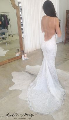Beautiful Princeville Bridal Gown fitting in the Katie May salon. http://www.katiemay.com/products/princeville