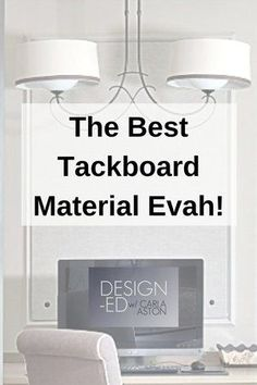 BEST tackboard material Picture Frame Molding, Home Office Organization, Fix You, Used Iphone, Design Consultant, Bulletin Board, Declutter, Home Depot, Perfect Place