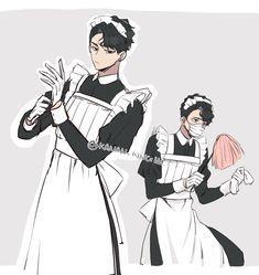 Maid Outfit Anime, Anime Maid, Haikyuu Manga, Haikyuu Fanart, Hot Anime Boy, Cute Anime Guys, Haikyuu Characters, Anime Characters, Comic Anime