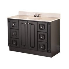 """Shop Magick Woods 48"""" Dark Chocolate Premiere Traditional Bath Vanity at Lowes.com"""