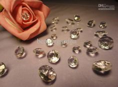 Wholesale Wedding Decorations - Buy 1000pcs/lot 10mm Wedding 4CT Diamond Gold Table Scatter Crystal Confetti Decoration Gems Pick Color, $0.02 | DHgate
