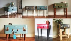 Suitcase tables - Sherry Salvage