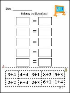 "FREE MATH LESSON - ""Balance the Equations"" - Go to The Best of Teacher Entrepreneurs for this and hundreds of free lessons. 1st - 3rd Grade    #FreeLesson      #Math      http://www.thebestofteacherentrepreneurs.net/2016/04/free-math-lesson-balance-equations.html"