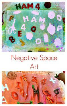 Kids Art Project : Easy negative space art even the younger kids can enjoy.