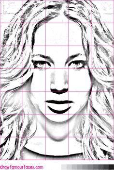 How to Draw Jennifer Lawrence Using a Grid