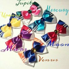 Be your favorite sailor scout everyday and get all Layered satin ribbon topped off with a rhinestone. Bows included: Sailor Moon Sailor Mars Sailor Jupiter Sailor Mercury Sailor Venus SAailor Uranus Roughly x inches Alligator clip Made with love Sailor Moon Birthday, Sailor Moon Party, Sailor Moon Crafts, Sailor Moon Wedding, Sailor Moon Hair, Sailor Venus, Sailor Jupiter, Sailor Mars, Craft Ideas