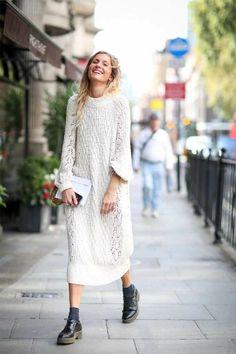winterkleider damen longpullover strick weiß