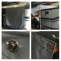 Tarp Fastened With Common Sense Fasteners To Trailer Metal S And Silicone Prevent Leaks Brilliant Idea From Fb Group Horse Conversions