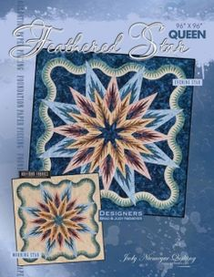"Feathered Star Queen - Available from Quiltworx.com - A Judy Niemeyer Quilting Company. Shop for more patterns and quilting supplies on store.quiltworx.com.  This pattern makes one 96"" x 96"" quilt, the pattern cost is $75.00."