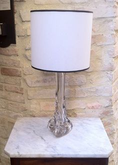 Lampada francese anni '20 - '30 vetro French table lamp 20s - 30s glass