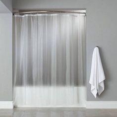 Vinyl Shower Curtain Liner Chrome Roller Hook Set Anti Mildew White