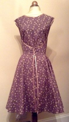 Butterick 1950s retro walk away day dress