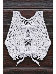 Hollow Out Cropped Smocked Top - WHITE ONE SIZE(FIT SIZE XS TO M)