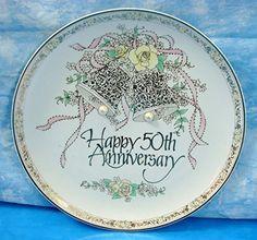 Vintage Roman Inc 50th Wedding Anniversary Plate Gold Paint Pearls Bells 1987 Japan Roman Inc 50th Wedding Anniversary Accent Plate http://www.amazon.com/dp/B016507JIO/ref=cm_sw_r_pi_dp_gQlewb08SK1QS