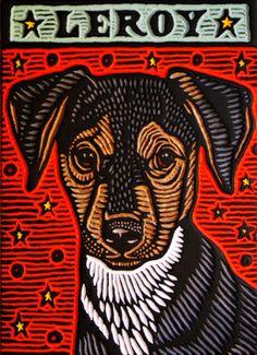 Gato Animal, Lino Art, Dog Paintings, Stencil Painting, Linocut Prints, Art Sketchbook, Dog Art, Pet Portraits, Art Lessons
