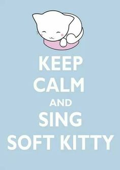 Keep calm and sing soft kitty - no idea what that means, but it has a kitty! ;) <3