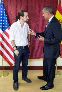 Cachondeo en Twitter con la foto de Pablo Iglesias junto a Obama