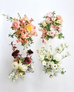 Bold And Beautiful Bouquets Are The Biggest Wedding Floral Trend | Weddingbells Coral Peonies, White Ranunculus, Carnations, Tulips, Floral Wedding, Wedding Bouquets, Snowball Viburnum, Beautiful Bouquets, Spray Roses