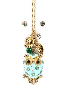 owl charm necklace, adorable!