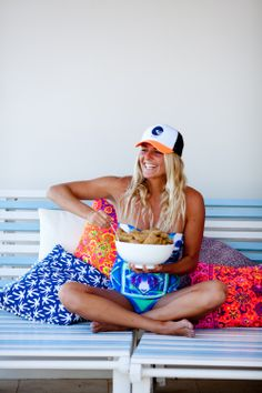 "Stephanie Gilmore: ""Lay days at the #ROXYpro include chowing on some Weetbix hahaha"" #DowntimeDownUnder"