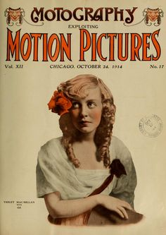 Violet MacMillan on the cover of Motion Pictures magazine