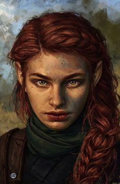 Fantasy Rpg, Medieval Fantasy, Fantasy Girl, Dark Fantasy, Fantasy Portraits, Character Portraits, Character Art, Character Design, Dnd Characters