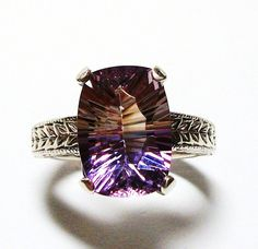 Ametrine ring solitaire ring  s 7 Circle of Love by Michaelangelas, $139.50