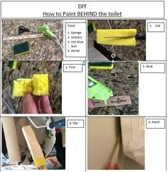 Painting behind toilet with jimmy sponge stix 2 home stuff pinterest toilet house and for How to paint a bathroom behind toilet