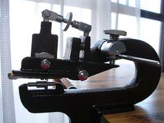 画像表示 - HARRYとレザークラフト - Yahoo!ブログ, skiving machine, leer verdunner, hand splitter