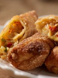 Chicken Cheesesteak Egg Rolls - the most delicious snack ever!