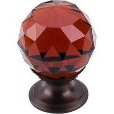 Wine Crystal Knob 1 1/8'' TK121ORB Oil Rubbed Bronze Base