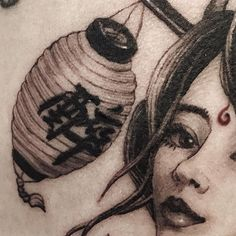 Asian Tattoos, Asian Style, Traditional Tattoo, Lantern, Black And Grey, Tower, Ink, Tattoo Traditional, Lathe