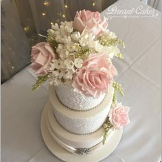 Top view of this wedding cake at the Storey Bridge Hotel