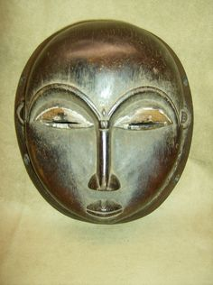 BAULE Tribal Portrait Moon Mask African Art Collectibles