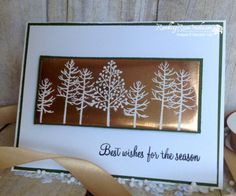 Thoughtful branches, totally trees, Embossed Copper... | Rambling Rose Studio | Billie Moane