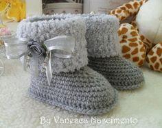 Botinhas de Crochê Baby