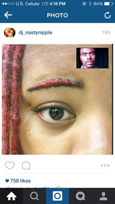 This bitch really dreaded her eyebrow // Follow pinterest @TheyLoveeSyiee