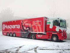 decorazione camion renault con pvc