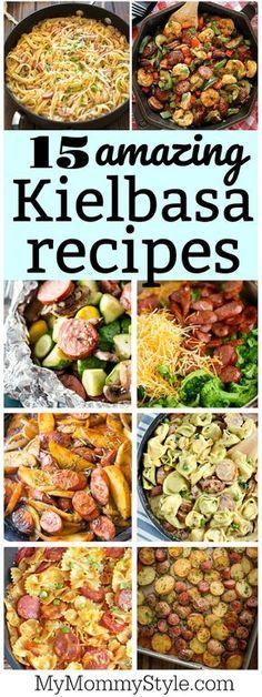 How to cook kielbasa - 15 delicious recipes - My Mommy StyleYou can find Kielbasa recipes and more on our website.How to cook kielbasa - 15 delicious recipes - My Mommy Style Turkey Kielbasa Recipes, Kilbasa Sausage Recipes, Polish Sausage Recipes, How To Cook Kielbasa, Kielbasa Sausage, Polish Keilbasa Recipes, Crockpot Keilbasa Recipes, Cooking Kielbasa, Kielbasa And Potatoes