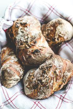 Overnight rye bread rolls