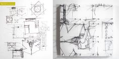 Sketch #1 by Shu | Formanuova Art Project. Design Reinvented. Transformation of pages magazine in another work of art.