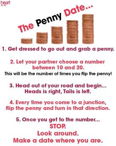 The Penny Date - been using it and it's interesting and perplexing--- make sure you take water and snacks!  (TP too!)